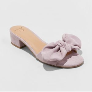 🎉HP 🎉Women's Hyleta Knotted Bow Heeled Mules-BH